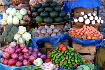 Vegetable Market in Sucre, Bolivia