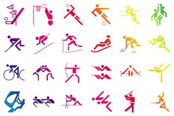 sport games in gradient