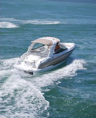 Luxury Speed Boat with Canvas Canopy