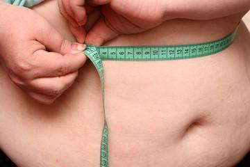 overweight women stomach