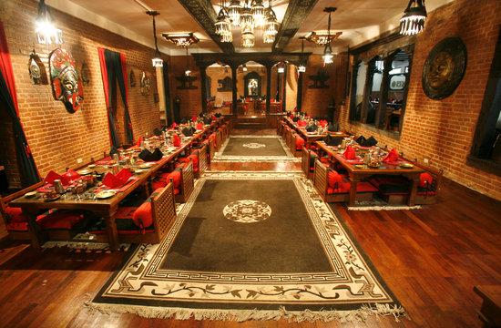 chinese restaurant diningroom in nepal