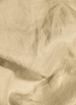 Crumpled satin fabric background - series - chocolate, beige.