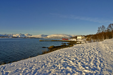 Norway - snowy beach