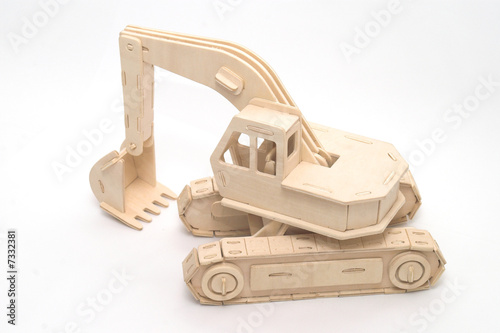 wooden toy excavator stock photo and royalty free images on pic 7332381. Black Bedroom Furniture Sets. Home Design Ideas