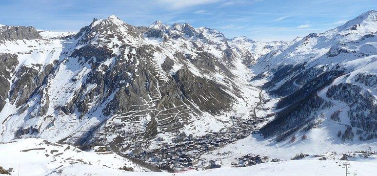 Panoramique sur Val d'Isère