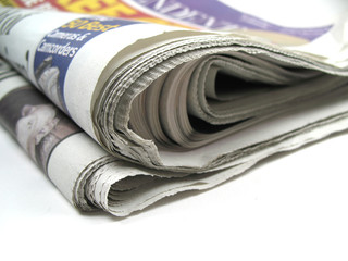 newspapers close-up