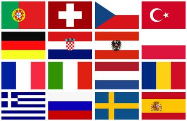 Flaggen der Fußball EM2008