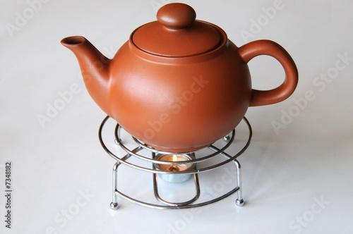 """""""Tee Tea Teapott Teekanne Stövchen Kerze"""" Stockfotos Und"""