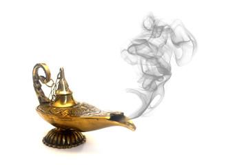 Smoking Genie Lamp