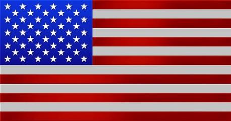 amerikanische flagge - metallik