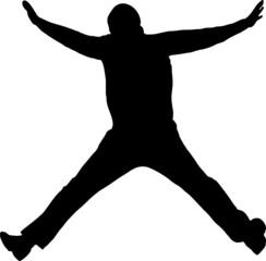 illustration of a man jumping