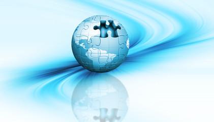 Jigsaw globe