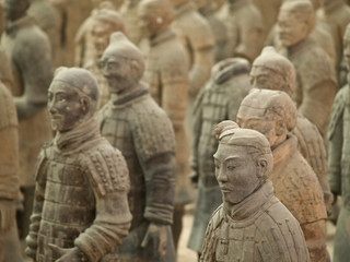 Stores à enrouleur Xian terra-cotta warriors