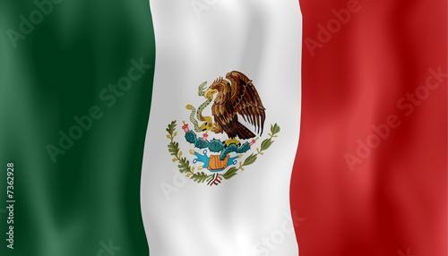 Mexique Drapeau Flottant Mexico Crumpled Flag Stock Photo And