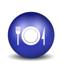 Restaurant Sign - blue