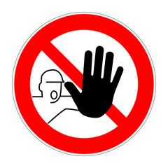 schild zutritt verboten