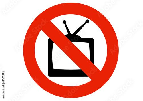 interdiction de regarder la t l vision fichier vectoriel libre de droits sur la banque d. Black Bedroom Furniture Sets. Home Design Ideas