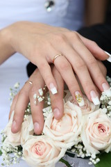 hends and wedding rings