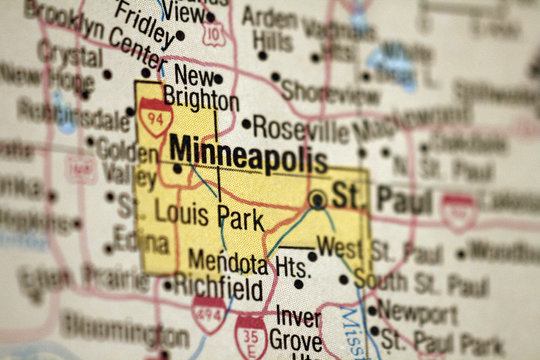 Map of Minneapolis, Minnesota