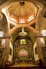 Orange brick dome Golden Altar Parroquia Archangel Church San Mi