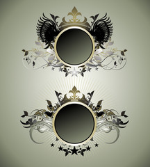Ornate shields