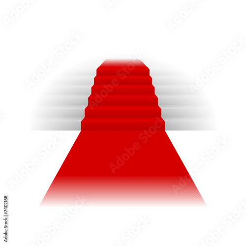 Treppe mit rotem teppich stock image and royalty free - Treppe mit teppich ...
