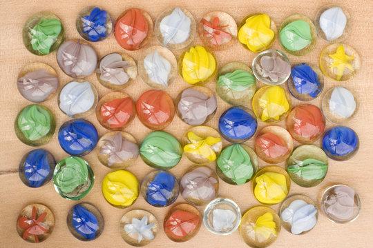 Mancala Stones on Board