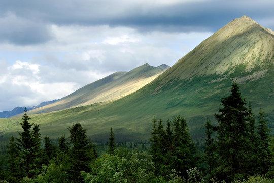Mountains of Wrangell- St. Elias National park in Alaska