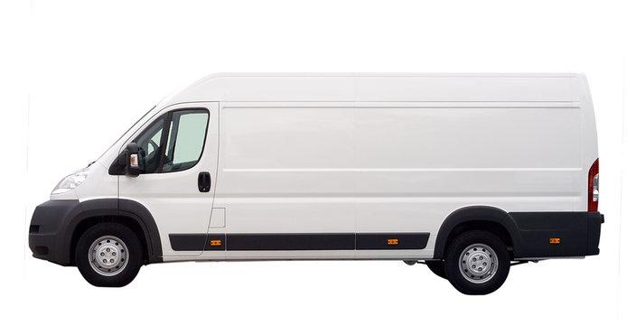 white van isolated