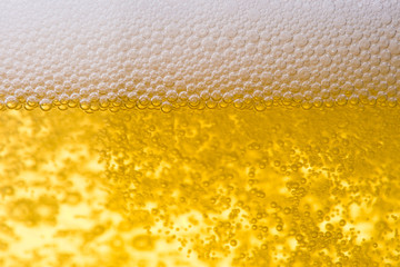 Background from fresh foamy beer.