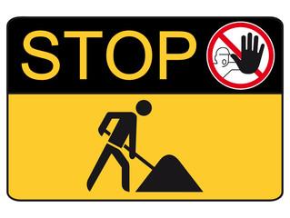 Stop, Baustelle