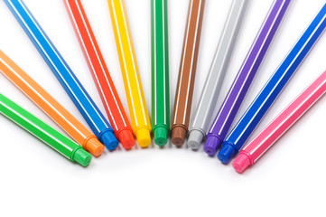 Selection of pencils isolated on the white background
