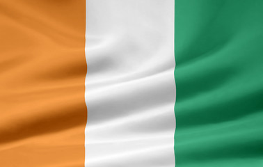Elfenbeinküste Flagge