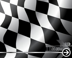 Vector Checkered flag - Easy change colors