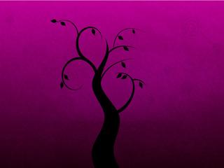 Illustration of a Black Swirly Tree