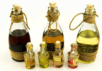 Bottles with oils