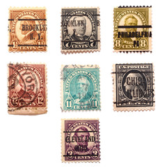 Seven Presidents Stamps