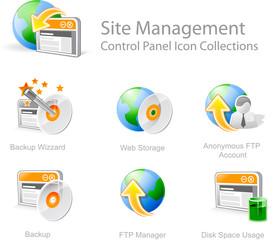 site management 3 - control panel icon set