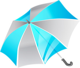 Graphic of umbrella, part of tekno series.