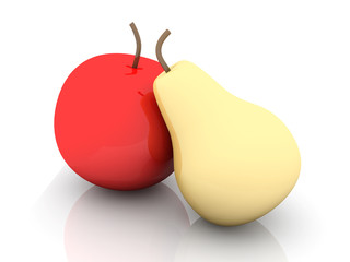 Plastik Früchte