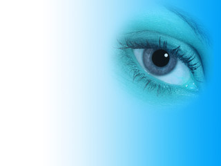 Blue eye abstract