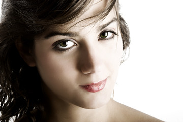 Portrait of beautiful young and sensual woman