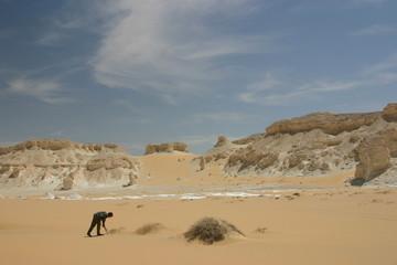 Seul dans le désert blanc