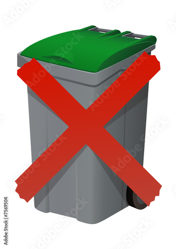 ne pas jeter la poubelle d tour fichier vectoriel libre de droits sur la banque d 39 images. Black Bedroom Furniture Sets. Home Design Ideas