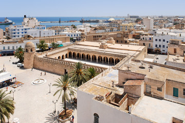 In de dag Tunesië View onto Sousse, Tunisia