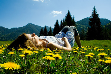 girl in meadow