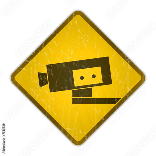 schild video berwachung stockfotos und lizenzfreie vektoren auf bild 7585939. Black Bedroom Furniture Sets. Home Design Ideas