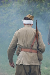 Soviet soldier. WW2 reenacting