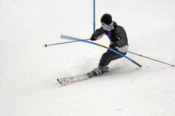 Downhill ski racer