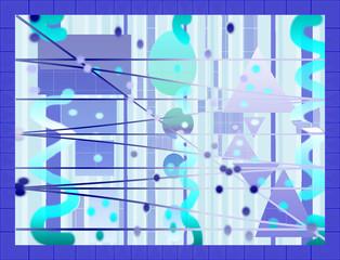 Formes bleues